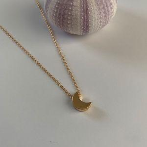 Jewelry - Beach Jewelry // Gold Moon Necklace // Minimalist